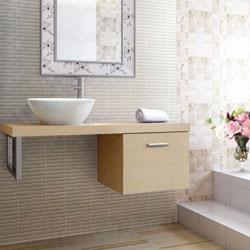 Chậu rửa Cabinet Inax CB1206-4IF-B (Màu gỗ nhạt)